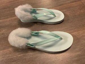 01374019b03 Details about New UGG Women's Laalaa Thong Sandals 1090387 Aqua Size:4