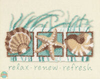 Punch Needle Kit Dimensions Seashells Collage Relax, Renew & Refresh 73152
