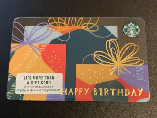 Happy Birthday VHTF! ULTRA Rare Starbucks HORIZONTAL LINE Gift Card #6164