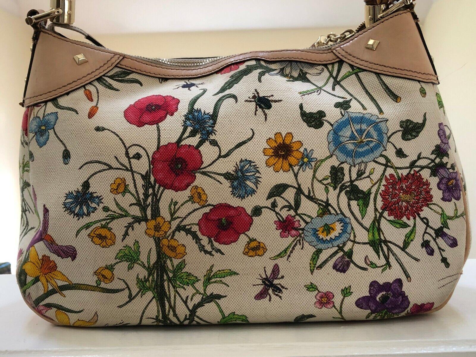 GUCCI Flora Botanical Bag -  The Diana - Canvas w… - image 1