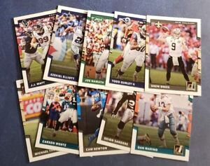 2017-Donruss-Football-1-300-Veterans-Hall-of-Famers-A-Z-You-Pick-From-List