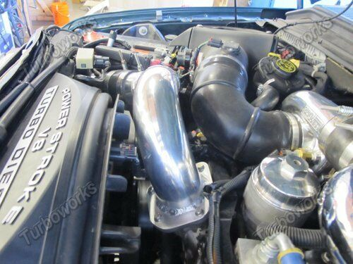 """3/"""" Cold Intake Charge Pipe For 08-10 Ford Super Duty 6.4L Power Stroke Diesel V8"""