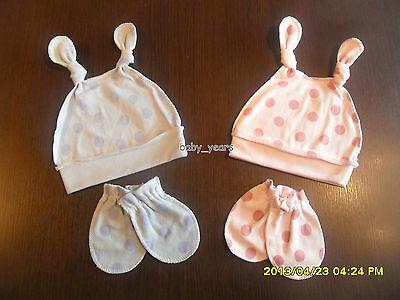 Leale Baby Double Knotted Cappello Scratch Mitt Set Regalo Bambine Rosa Blu A Pois Dot-mostra Il Titolo Originale Sapore Fragrante (In)