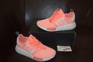 6d6d9b9b8 New Women s Adidas NMD R1 W Boost Sz 9-10 Sun Glow White Pink Orange ...