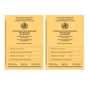 2-Stueck-Internationaler-Impfausweis-Impfpass-Impfbuch-neu-2er-Set-Impfausweise