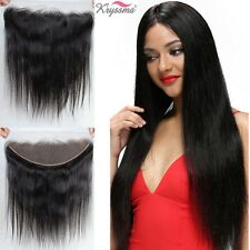 """13x4 Frontal Straight Indian Remy Virgin Human Hair Lace Closure Ear to Ear 8"""""""