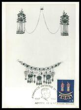 GREECE MK 1967 NATIVE ART VOLKSKUNST SCHMUCK CARTE MAXIMUM CARD MC CM h0579