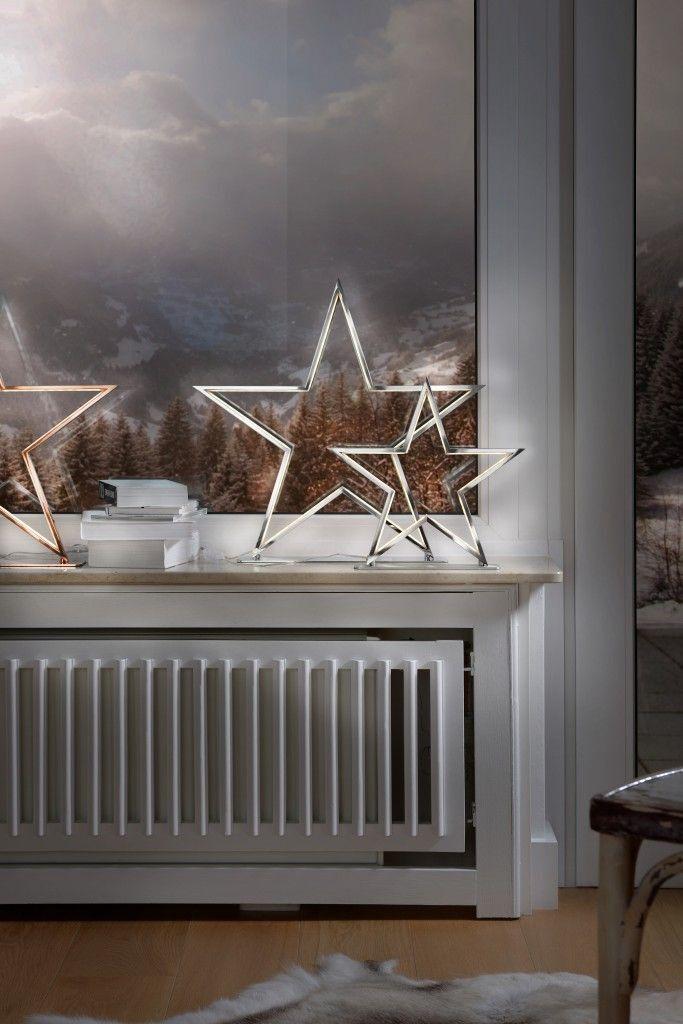 Sompex Lampe de table Lucy chrome hauteur 33 cm O. 50 cm Table Lampadaire Argent étoile