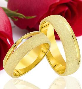 2-SILBER-Partner-Ringe-Trauringe-Eheringe-Gravur-Gratis-GOLD-Platiert-T304-1