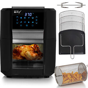 Deco Chef 1700W 12.7QT Digital Air Fryer Oven, with 8 Meal Preset Modes, Black