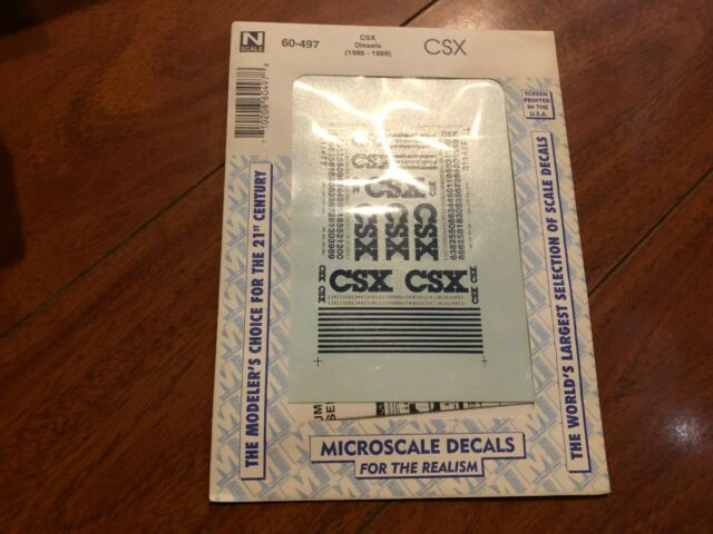 N SCALE TRAIN SET MICROSCALE DECALS 60-575 CSX DIESELS 1989-2002 NEW FREE SHIP