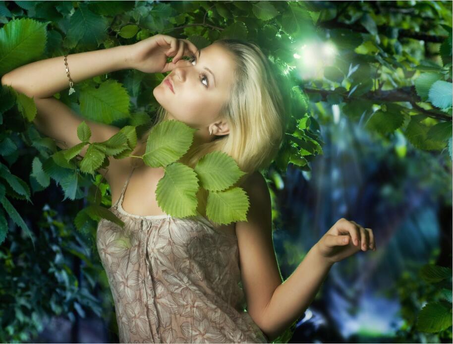 3D Grüne Blätter  Mädchen Mädchen Mädchen  875 Fototapeten Wandbild BildTapete AJSTORE DE Lemon | Berühmter Laden  | Bequeme Berührung  | Einfach zu bedienen  9d6590