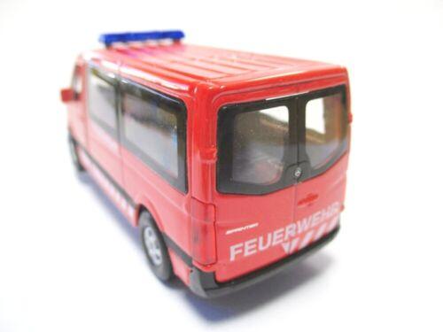 Mercedes Sprinter Feuerwehr Modellauto Metall 12 cm diecast Welly Model