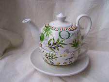 - Tea for one aus Keramik -  * Olivendekor *  ORIGINAL Jameson & Tailor