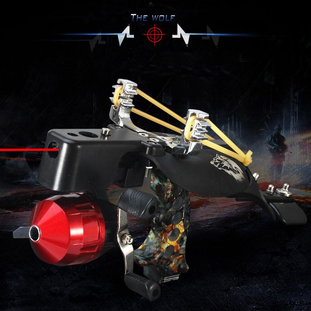 High Velocity Armguard Hunting Fishing Wrist Slingshot Arrow Rest Catapult 2018