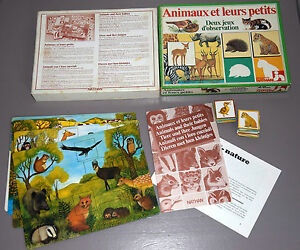 034-ANIMAUX-et-leurs-petits-034-jeu-NATHAN-1983