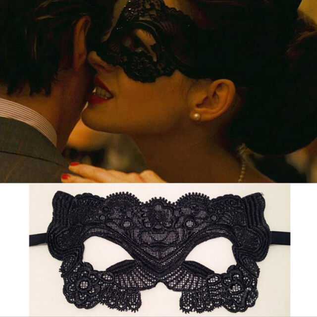 New Catwoman Fashion Black Cutout Mask Lace Sexy Prom Halloween Costume Party