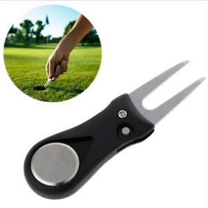 Pitch-Repair-Divot-Blade-Tool-Golf-Ball-Marker-Groove-Cleaner-Accessory-LI