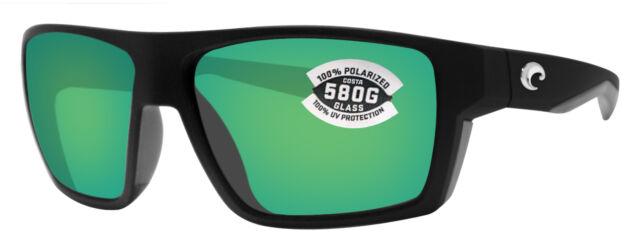 d3298f9b4a9 Costa Del Mar bloke matte black gray frame green 580G polarized glass lens