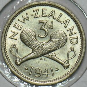 New Zealand 1941 3 Pence 491281 combine
