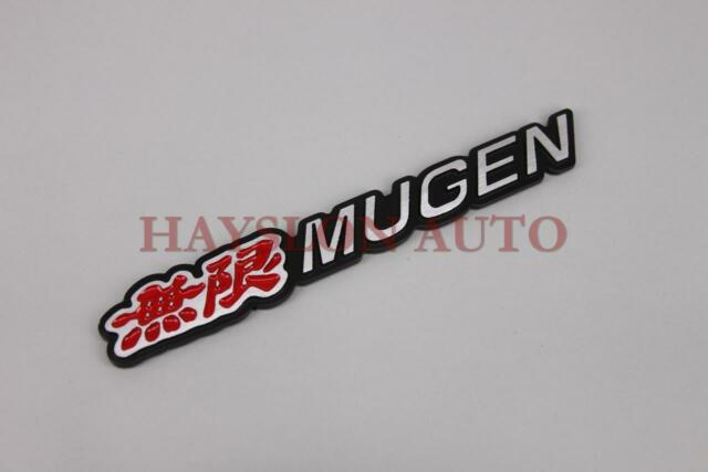 3D Thick Aluminum Emblem Trunk Badge Sticker Decal Fit Car Red Mugen Civic RSX