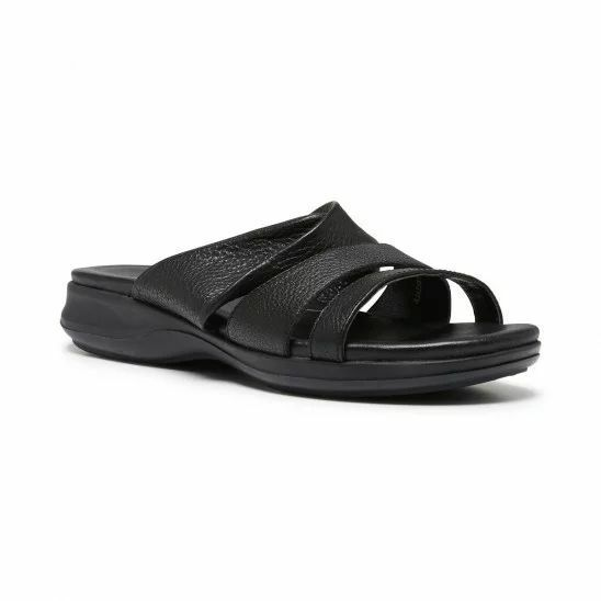 Damenschuhe HUSH PUPPIES LARAY SUMMER HART BLACK LEATHER COMFORTABLE SUMMER LARAY SANDALS Schuhe 808d73
