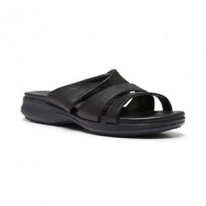 WOMENS-HUSH-PUPPIES-LARAY-HART-BLACK-LEATHER-COMFORTABLE-SUMMER-SANDALS-SHOES