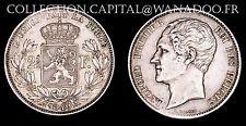 Belgique 2 1/5 Francs 1849 Léopold Ier Module Grosse Tête SUP Argent