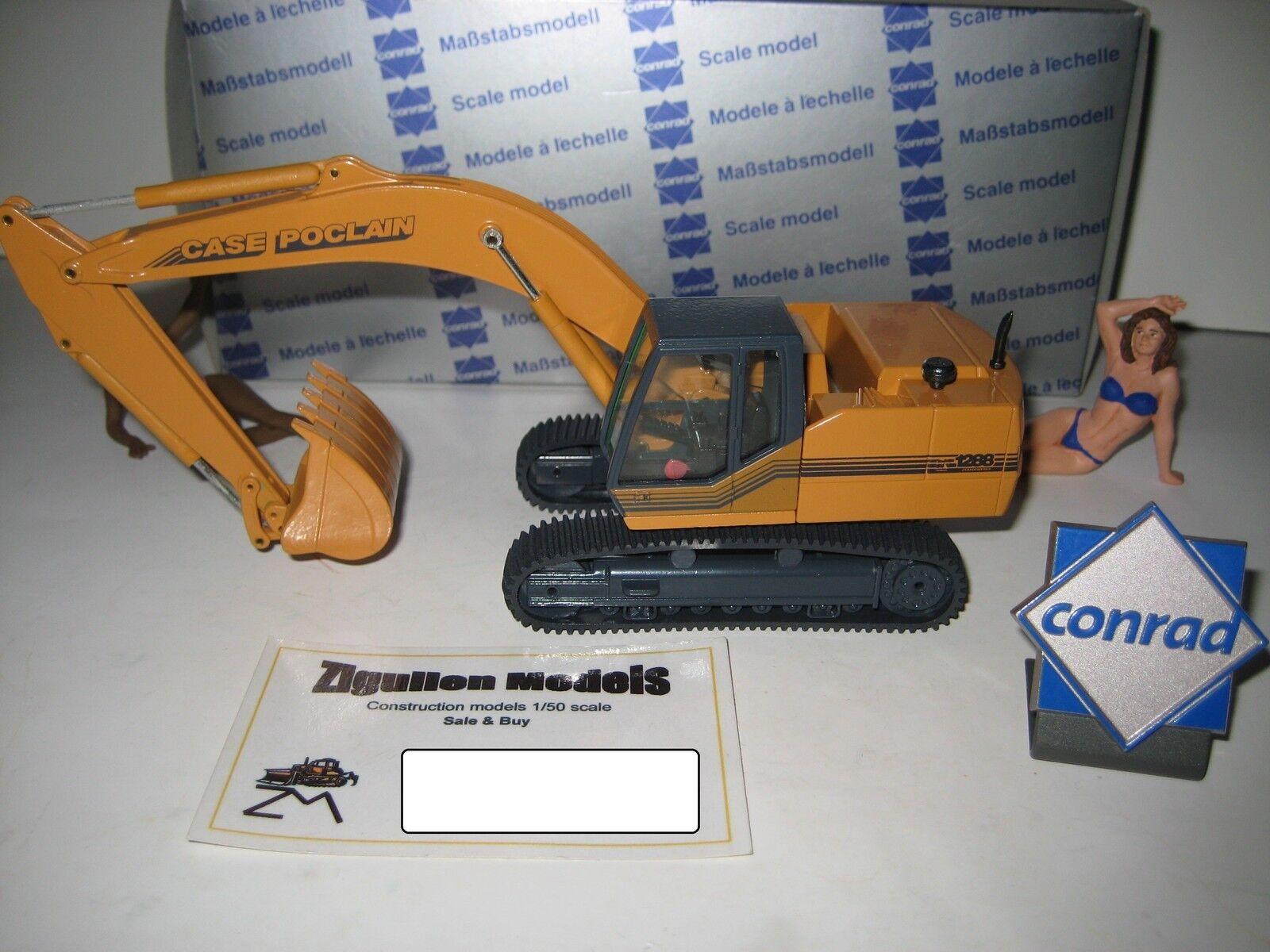 Case Poclain 1288 Excavateurs tieflöffel à chenilles  2894.2 CONRAD 1 50 NEUF dans sa boîte
