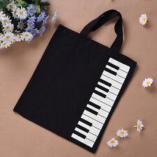 Hot Fashion Black Piano Keys Music Handbag Tote Bag Shopping Bag Handbag Purses