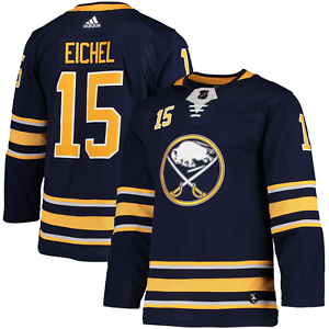 NHL-JACK-EICHEL-15-Buffalo-Sabres-On-Ice-AUTHENTIC-ADIDAS-Climalite-Jersey-NTW