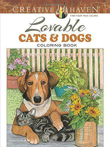 Creative Haven Lovable Cats and Dogs Coloring Book (Creative Haven Coloring Book