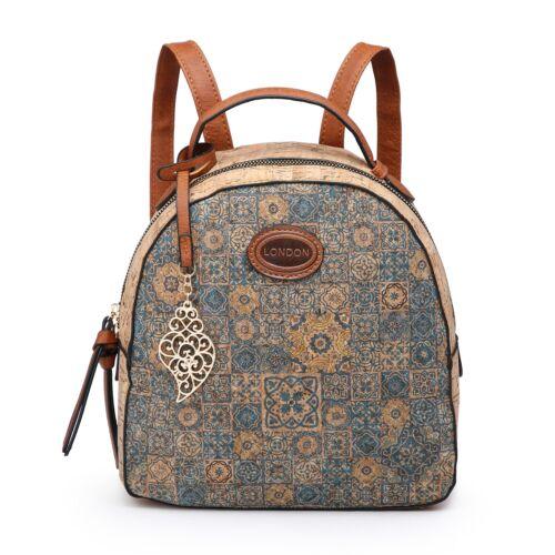 Ladies New Backpack women/'s  School Rucksacks mini Backpacks PU leather Cork UK