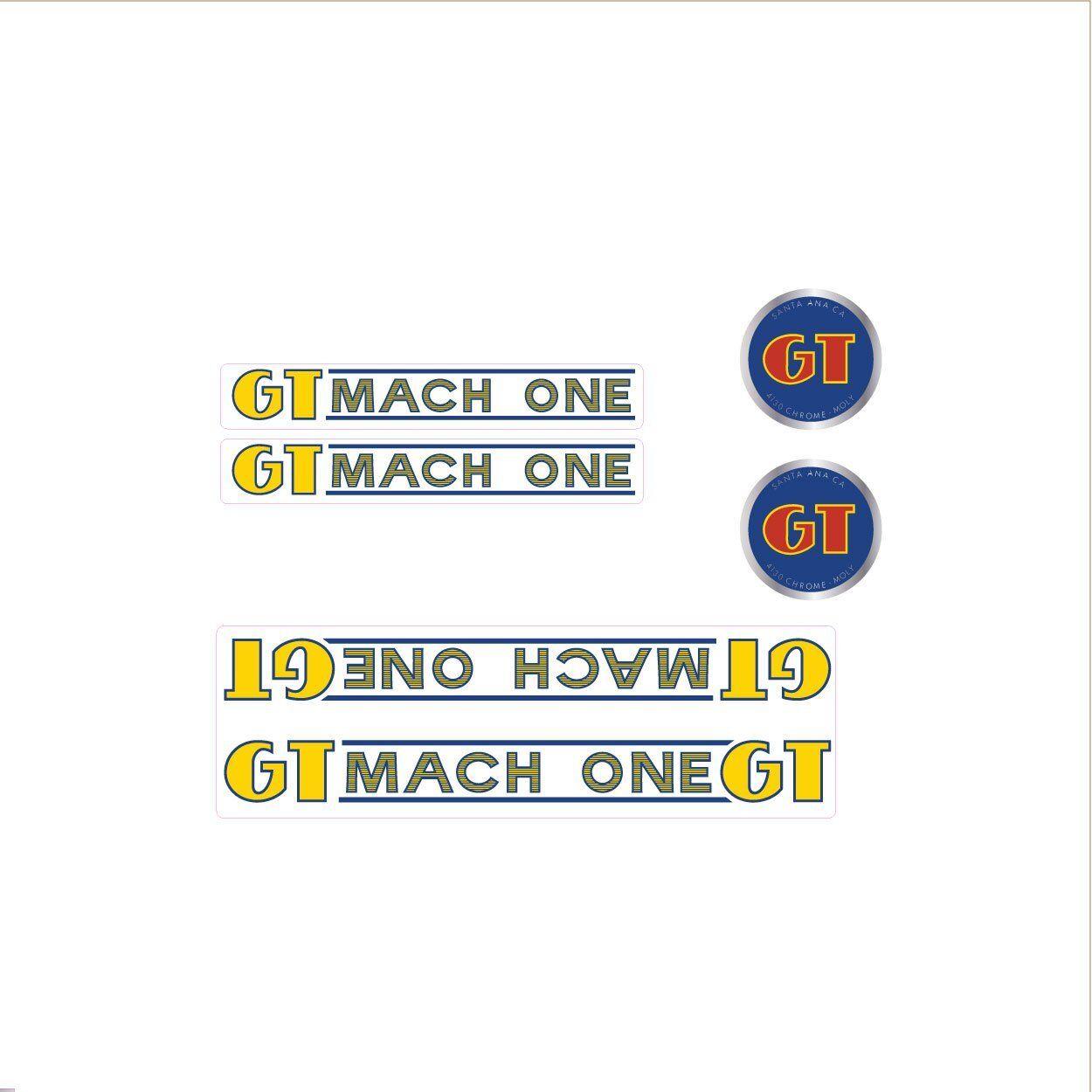 1985 GT BMX Mach One decal set