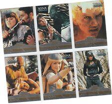 "Xena The Warrior Princess Seasons 4 & 5 - 6 Card ""Xena Enemies"" Chase Set E1-E6"