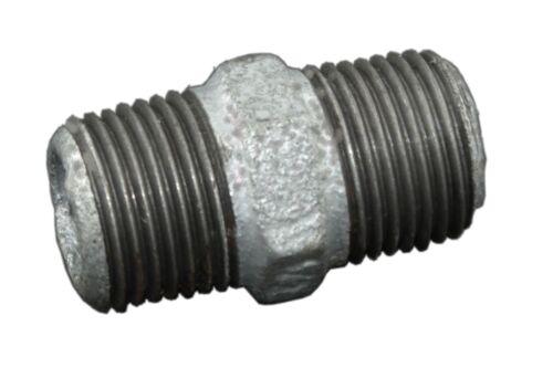 Temperguss Rohr verzinkt Fittings vz Wasserr Wasserleitung Doppelnippel #280