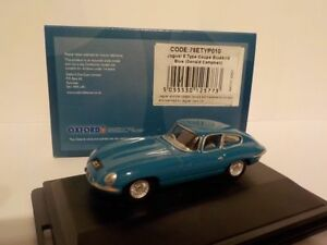 Jaguar-E-Tipo-Coupe-Bluebird-Azul-Donald-Campbell-Oxford-1-76-Dublo-nuevo