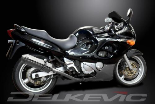"Delkevic 13/"" Stainless Tri-Oval Muffler Suzuki GSX600F Katana 600 1997-2006"