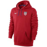 Nike Usa United States Usmnt 2017 Core Badge Hooded Top Brand Red