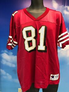 Vintage Terrell Owens  81 Jersey San Francisco 49ers Red Champion ... d7d2fb8e2