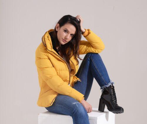 Mustard Dhalia gialla Puffa Giacca trapuntata Charcoal 01w17 Fashion donna HqxaP