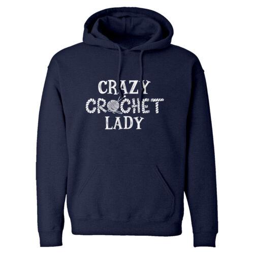 Crazy Crochet Lady Unisex Adult Hoodie #3294