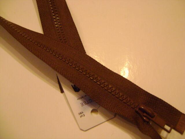 fermeture éclair séparable RG 'blouson' injectée 6mm chocolat 160 L.70 cm N°71N
