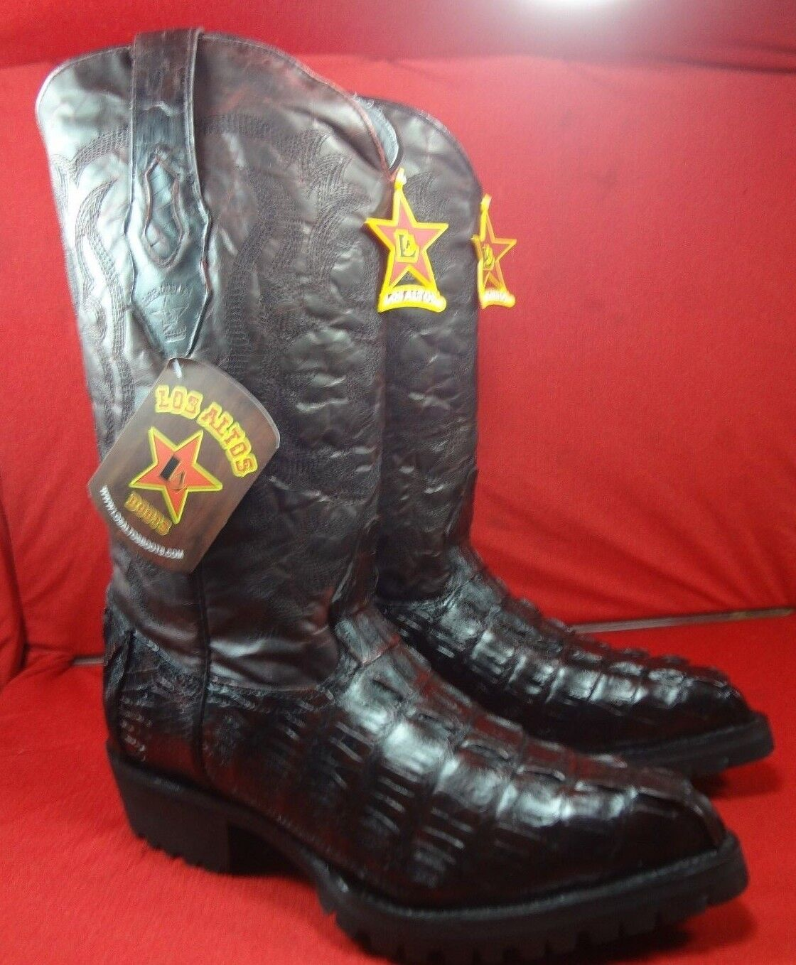 Mens Genuine Exotic  CAIMAN Cowboy Boots By LOS ALTOS (C33)