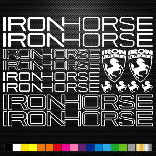 Ironhorse Vinyl Decals Stickers Sheet Bike Frame Cycle Cycling Bicycle Mtb Road