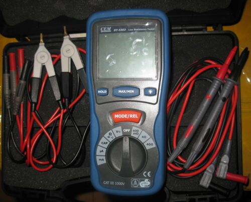 High-Accuracy Kelvin 4-wire Small Low Resistance Milliohm Meter Multimeter