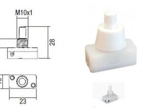 1 interrupteur à poussoir, écrou LAITON, bornes à vis, lampe