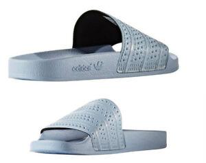 c39403a4b03 Men s Adidas ORIGINALS ADILETTE BLUE BLUE SANDALS SLIDES BA7539