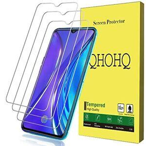QHOHQ-Protector-de-Pantalla-para-Realme-XT-Realme-X2-3-Piezas-Dureza-9H-S