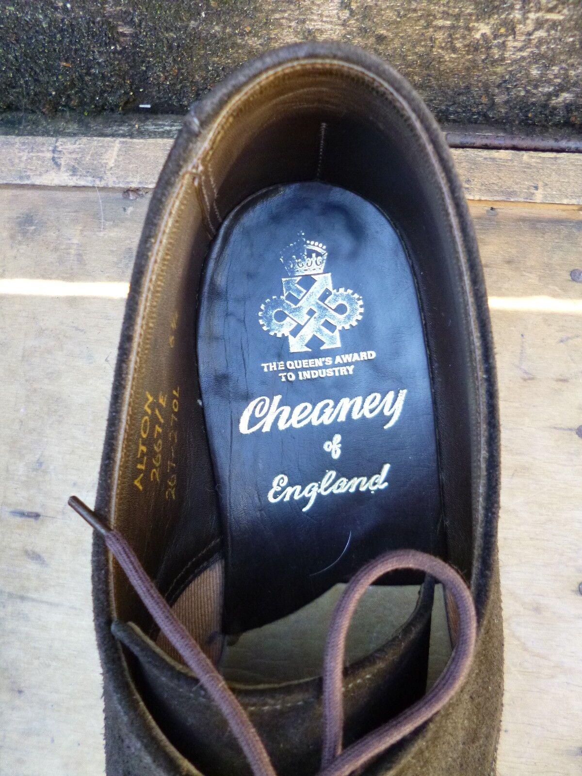 CHEANEY – / CHURCH VINTAGE DERBY – CHEANEY BROWN SUEDE – UK 6.5 –ALTON-EXCELLENT CONDITION 0d3e32